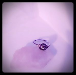 Jewelry - Purple and silver rose ring